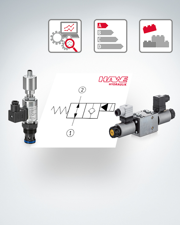 Directional seated valves